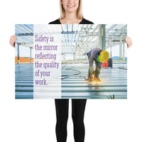 Safety is the Mirror - Premium Safety Poster