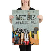 Safety Rules - Premium Safety Poster Poster Inspire Safety 18×24