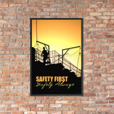Safety First Safety Always - Framed Safety Posters