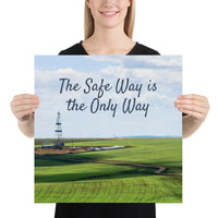 The Safe Way - Premium Safety Poster Poster Inspire Safety