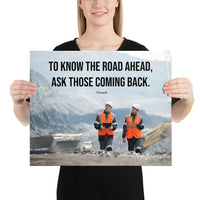 Road Ahead - Premium Safety Poster Poster Inspire Safety 16×20