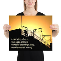 Great Safety Culture - Premium Safety Poster Poster Inspire Safety 16×20