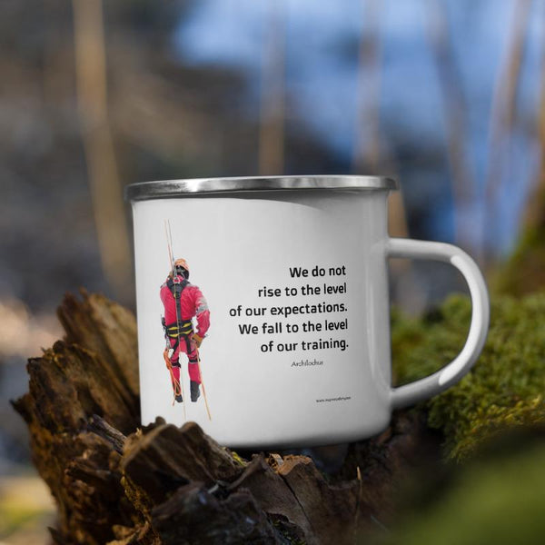 Rise To Expectations - Enamel Mug Mug Inspire Safety