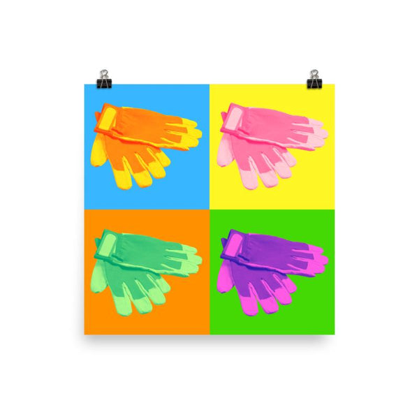 Colorful Safety Art - Gloves - Premium Safety Poster