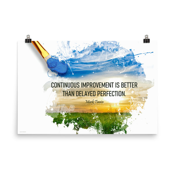 Continuous Improvement - Premium Safety Poster