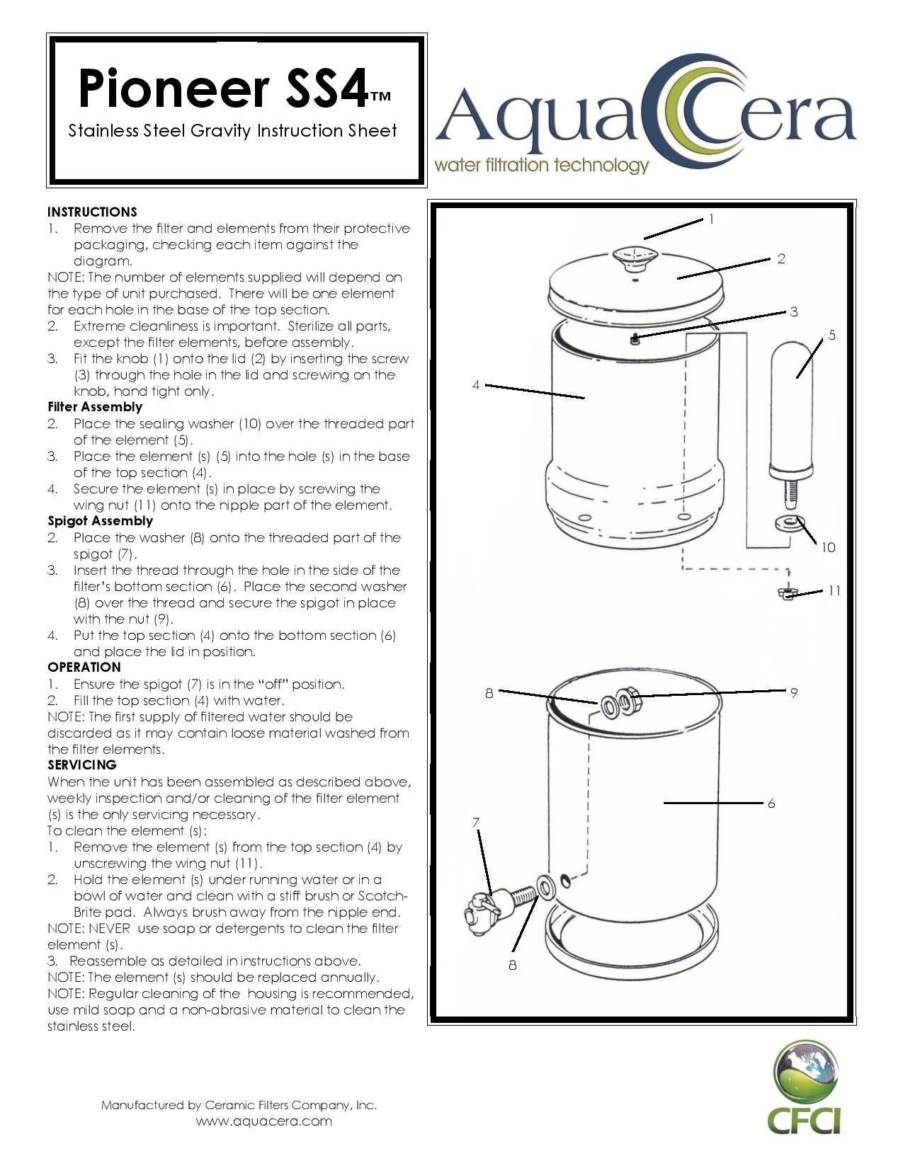 Pioneer SS4 Instruction Sheet