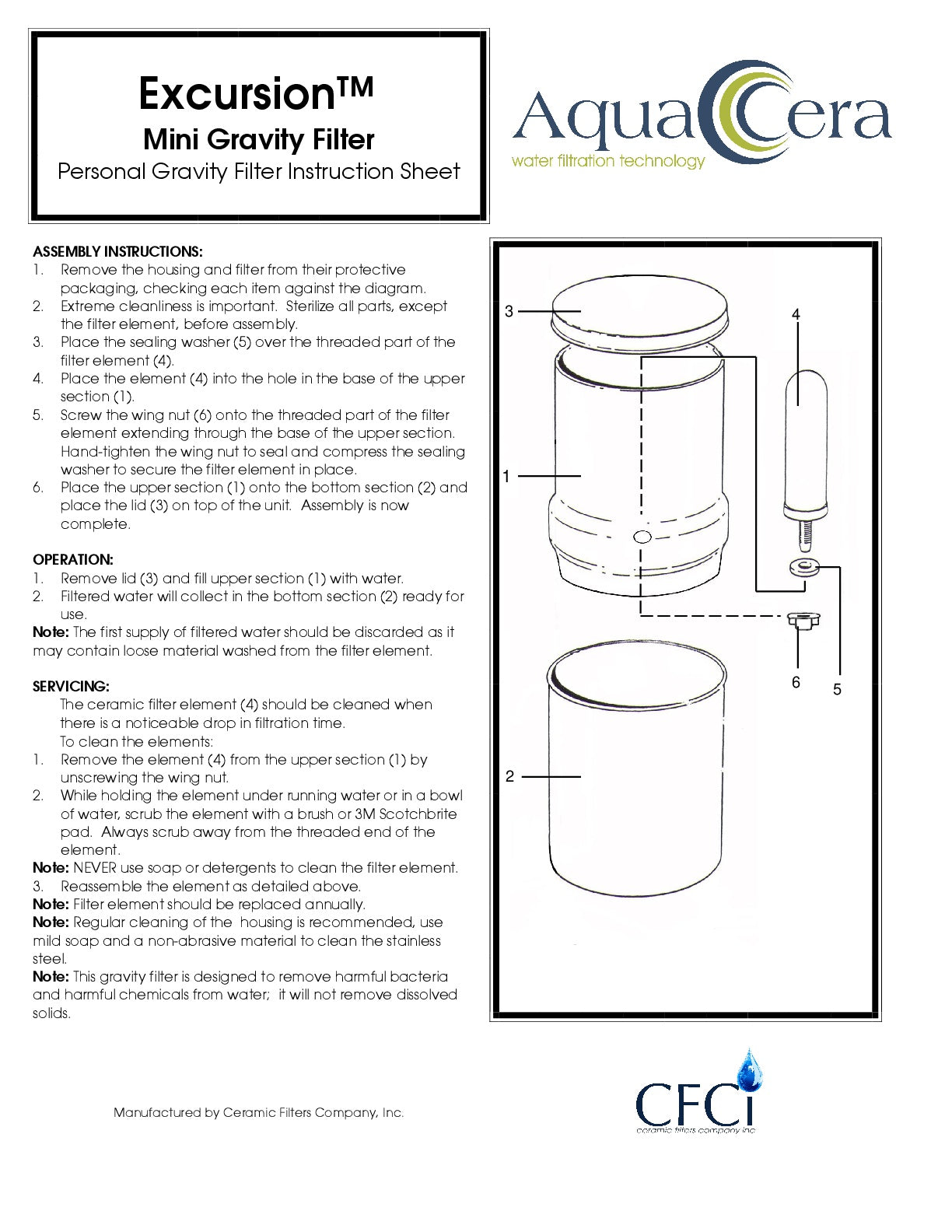 Excursion Mini Gravity Instruction Sheet