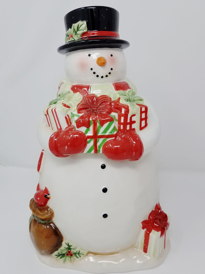 Certified Snowman Cookie Jar