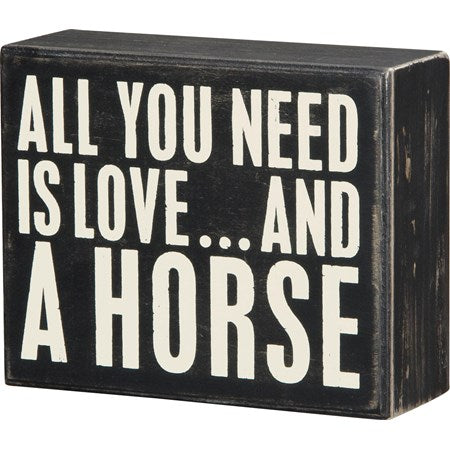 Box Sign- All You Need Is Love...