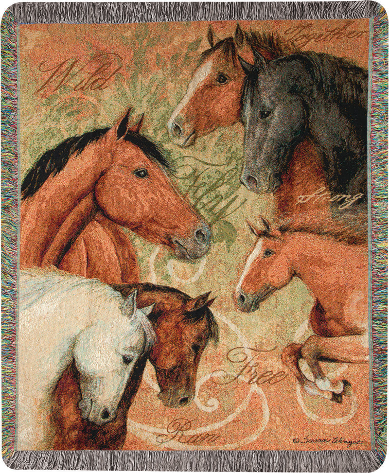 Stable Life Tapestry Throw - Kentucky Horse Park