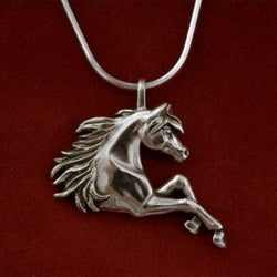 Necklace -Arabian Pendant With Prancing Legs - Kentucky Horse Park
