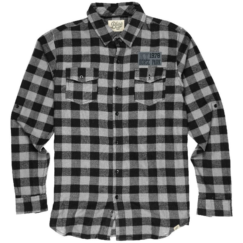 Blue 84 Flannel Plaid Button Up
