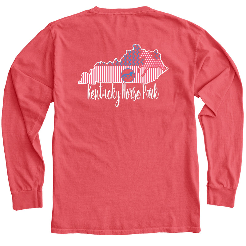 Mixed Pattern Lexington and State LS Tee