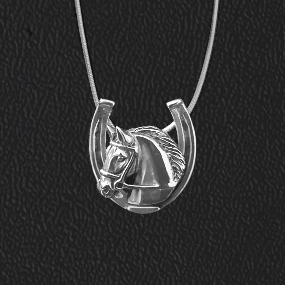 Necklace-Free Mane Mini Horseshoe Pendant - Kentucky Horse Park