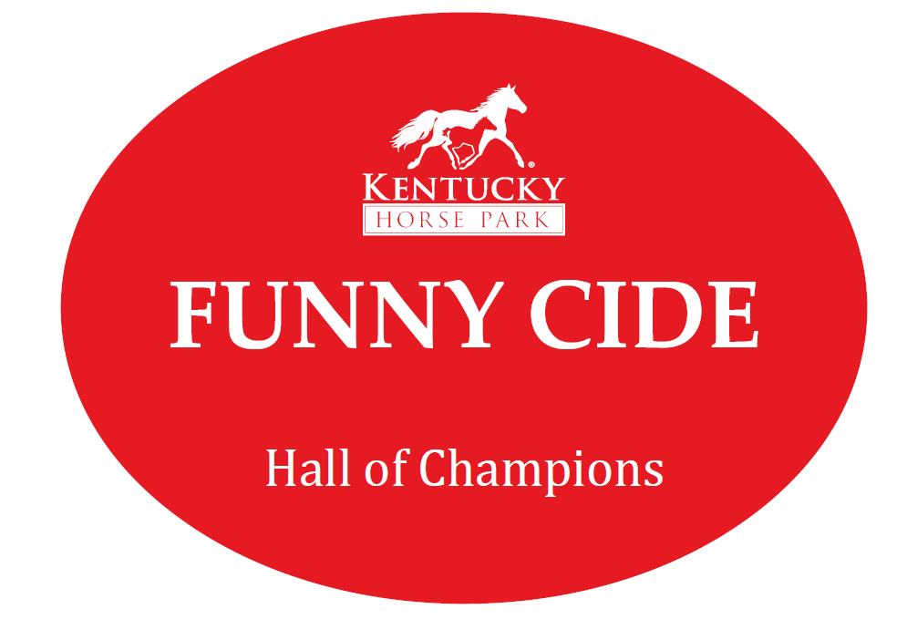 Funny Cide Oval Sticker