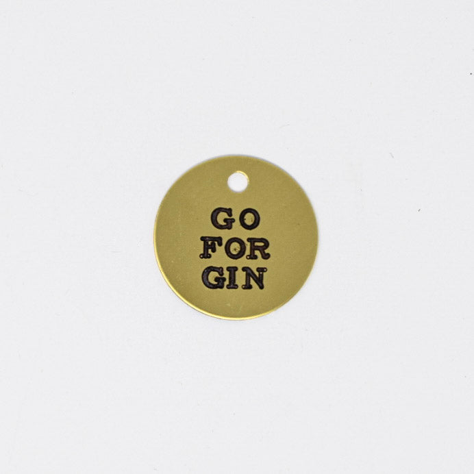 Go For Gin Halter Tag
