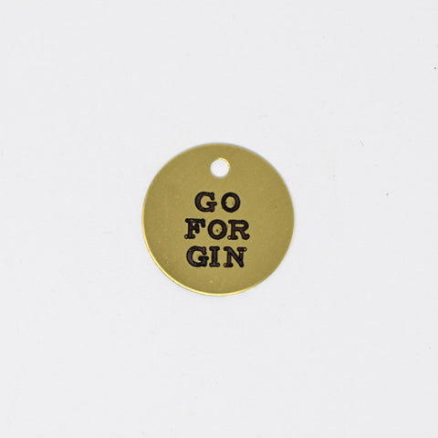 Go For Gin Oval Sticker