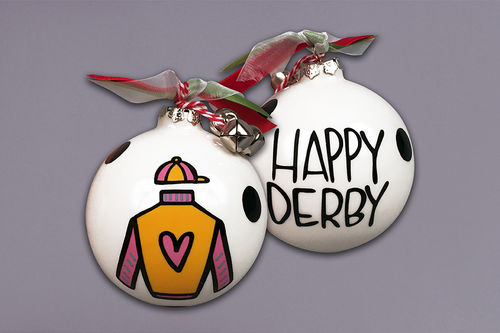 HAPPY DERBY ORNAMENT RIBBONS AND BELLS