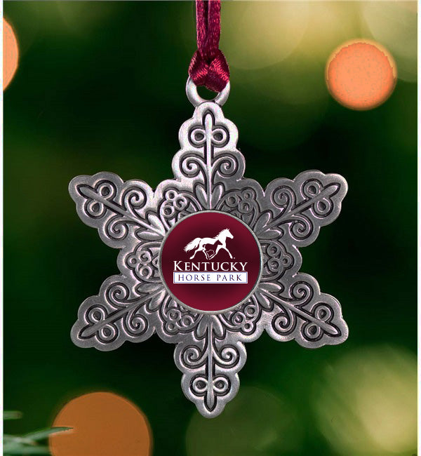 Kentucky Horse Park Pewter Snowflake Ornament - Kentucky Horse Park