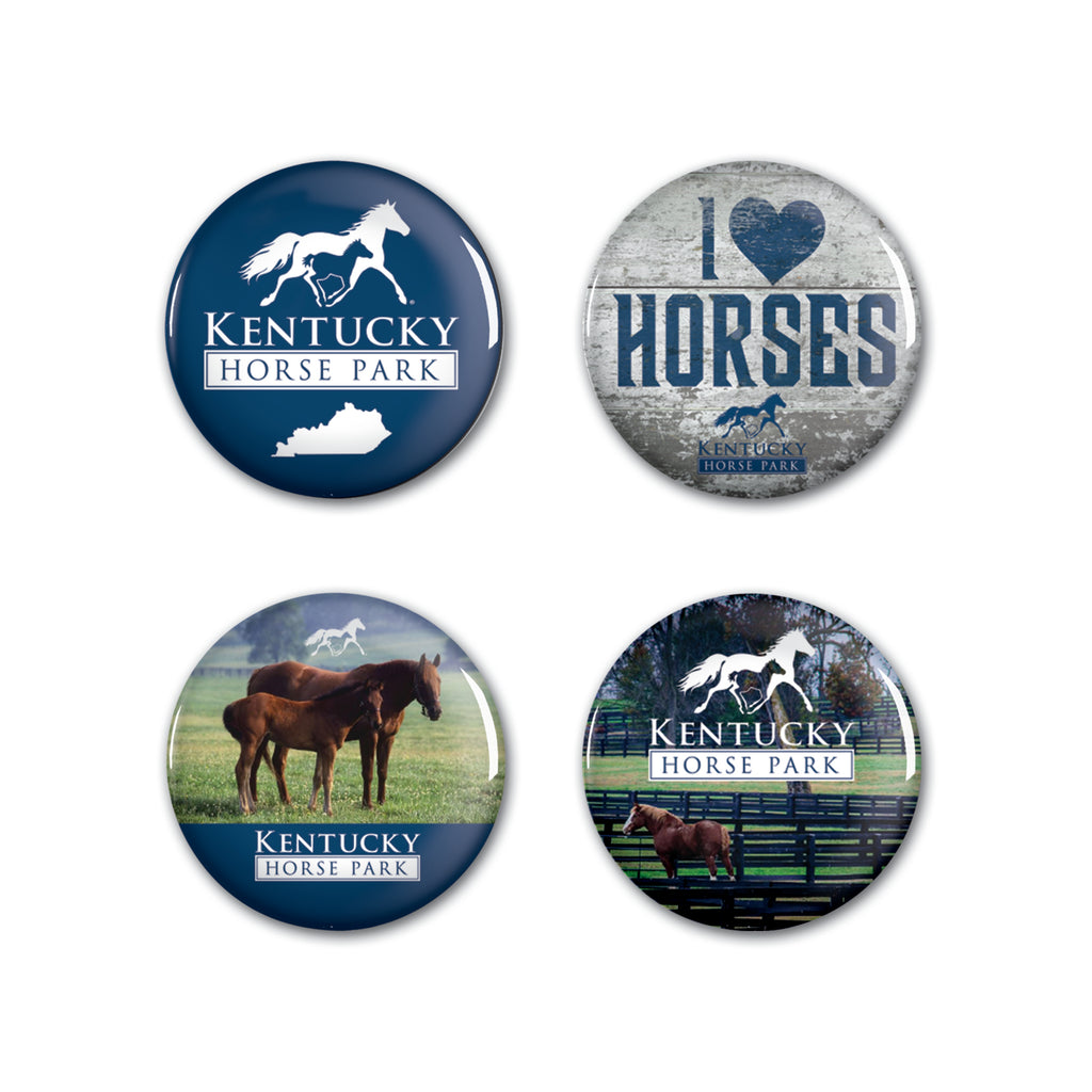 Button 4 Pack - Kentucky Horse Park