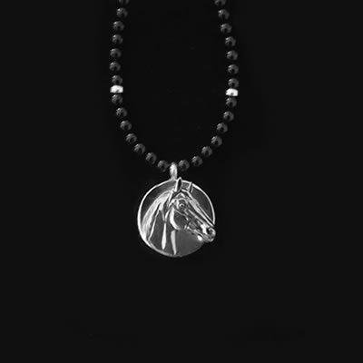 Necklace - Man o' War Small Onyx Bead - Kentucky Horse Park
