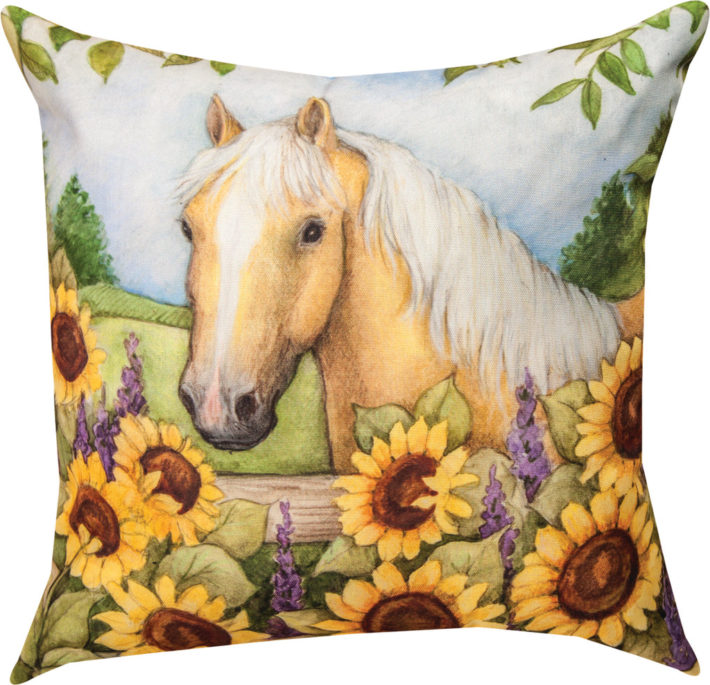 Horse In Florals Pillow - Sunflowers - Kentucky Horse Park