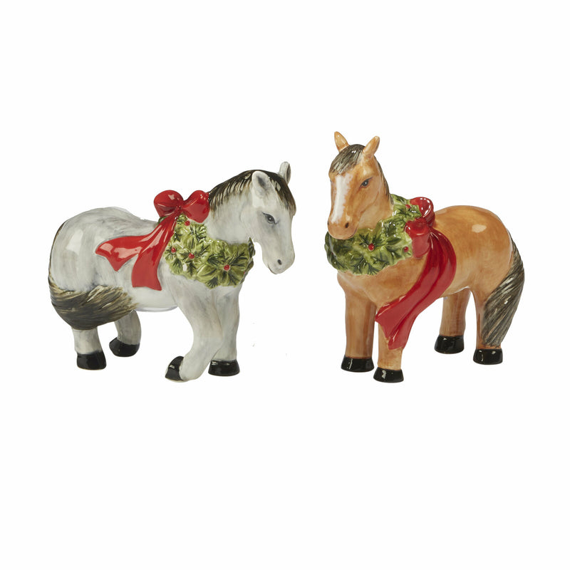Salt and Pepper Shaker Set Christmas On The Farm