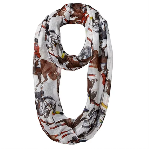 Scarf Infinity Lila Horse All Over