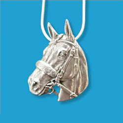 Necklace - American Pharoah Sterling Portrait Pendant - Kentucky Horse Park