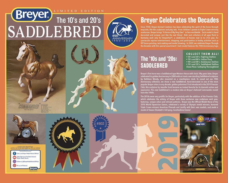 Breyer 70th Anniversary Saddlebred (10's-Current)