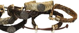 Genuine Horse Hair Bracelet-Horse Medallion-Q