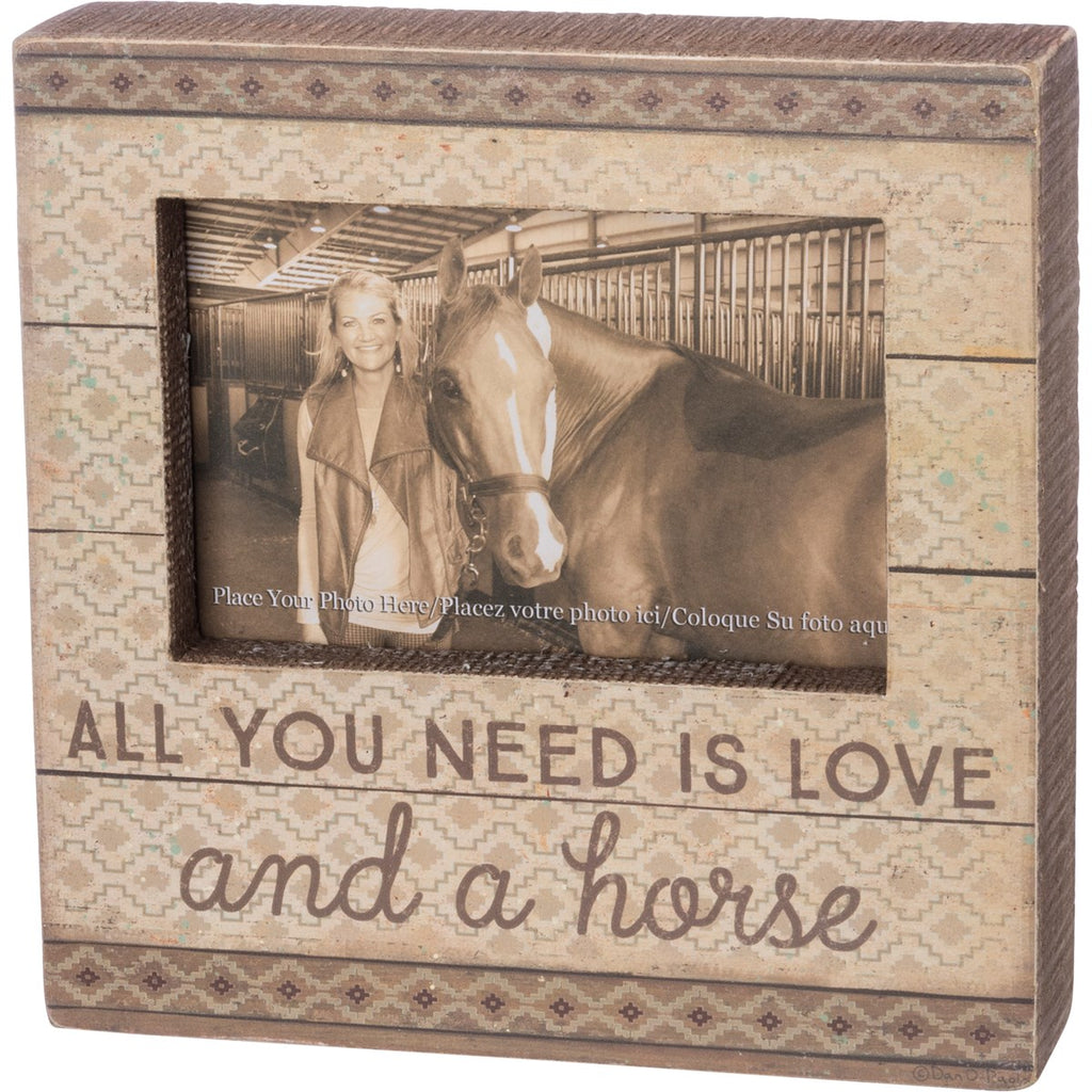Box Sign - Love and a Horse (Picture Frame)