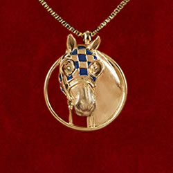 Necklace Secretariat Vermeil Pendant
