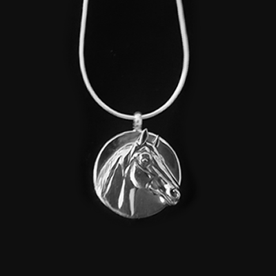 Man O'War Disc Pendant Necklace