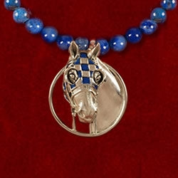 Necklace - Secretariat Denim Lapis Horse Jewelry - Kentucky Horse Park