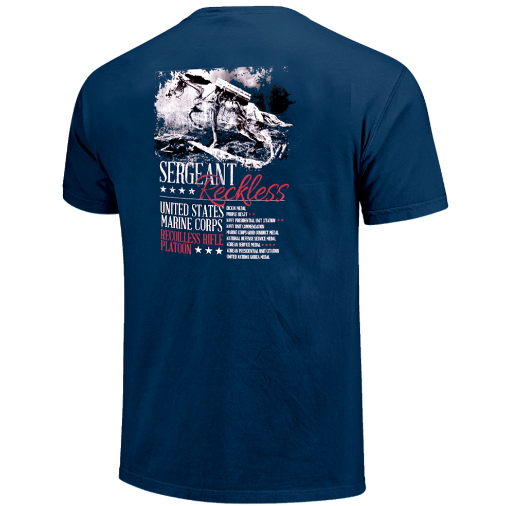 SGT Reckless Statue T-Shirt - Blue - Kentucky Horse Park