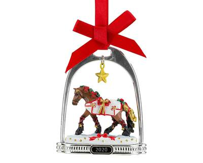 YULETIDE GREETINGS HOLIDAY STIRRUP ORNAMENT