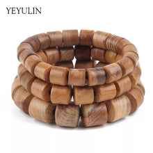 Load image into Gallery viewer, Wood Beaded Bracelet