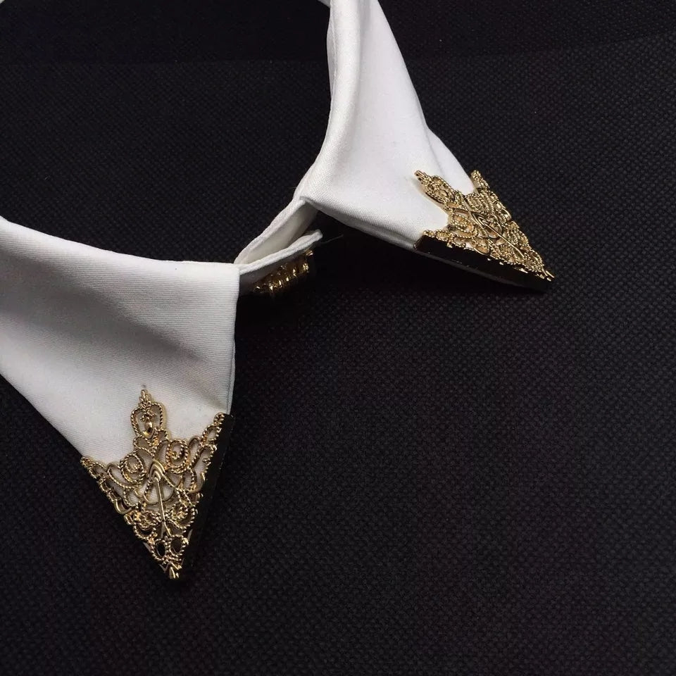 Fashion Hollow Collar Triangle Pin Broach