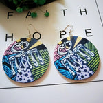 Retro Print Earrings