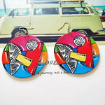 Multicolor Print Earrings