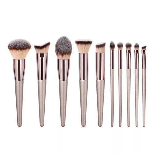 10pc Cosmetic Brush Set