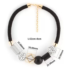 Load image into Gallery viewer, Black White Gold Fashion Necklace