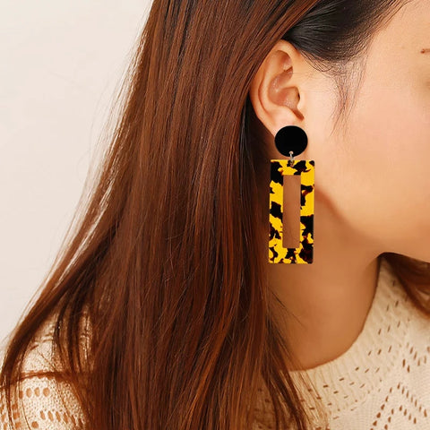 Leopard Acrylic Acrylic Print Earrings