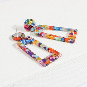 Multicolor Drop Dangle Earrings