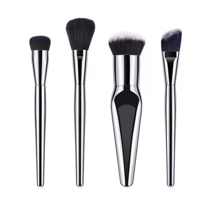 Silver 4pc Cosmetic Brush Set