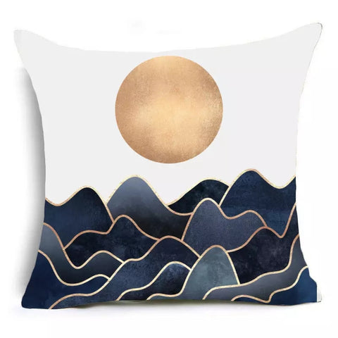 Sun and Waves Decorative Pillow Cover