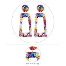 Load image into Gallery viewer, Multicolor Drop Dangle Earrings