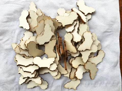 1 inch Africa unfinished wood pieces