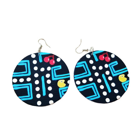 Pac Man Fashion Earrings